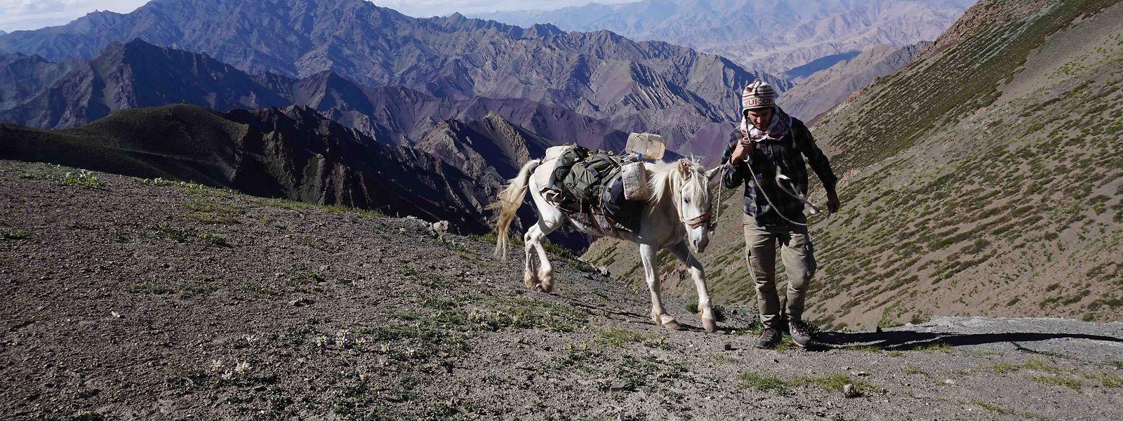 Unterwegs auf dem Dach der Welt: Der französische Abenteurer Eliott Schonfeld hat den Himalaja von West nach Ost durchquert.