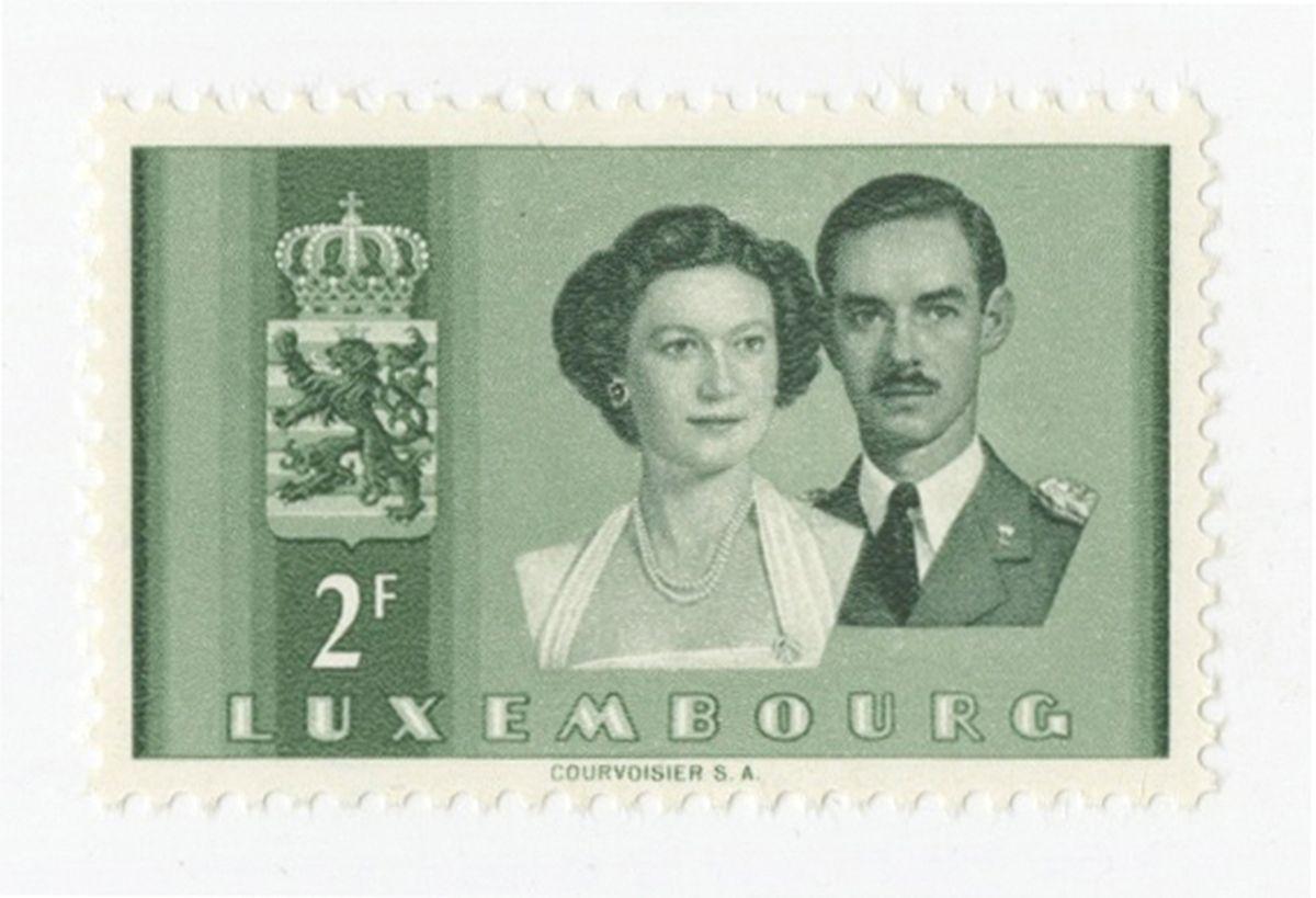 Das großherzogliche Paar auf einer Briefmarke.