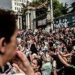 Am Samstag fand in Istanbul eine Anti-Kriegs-Demonstration statt.