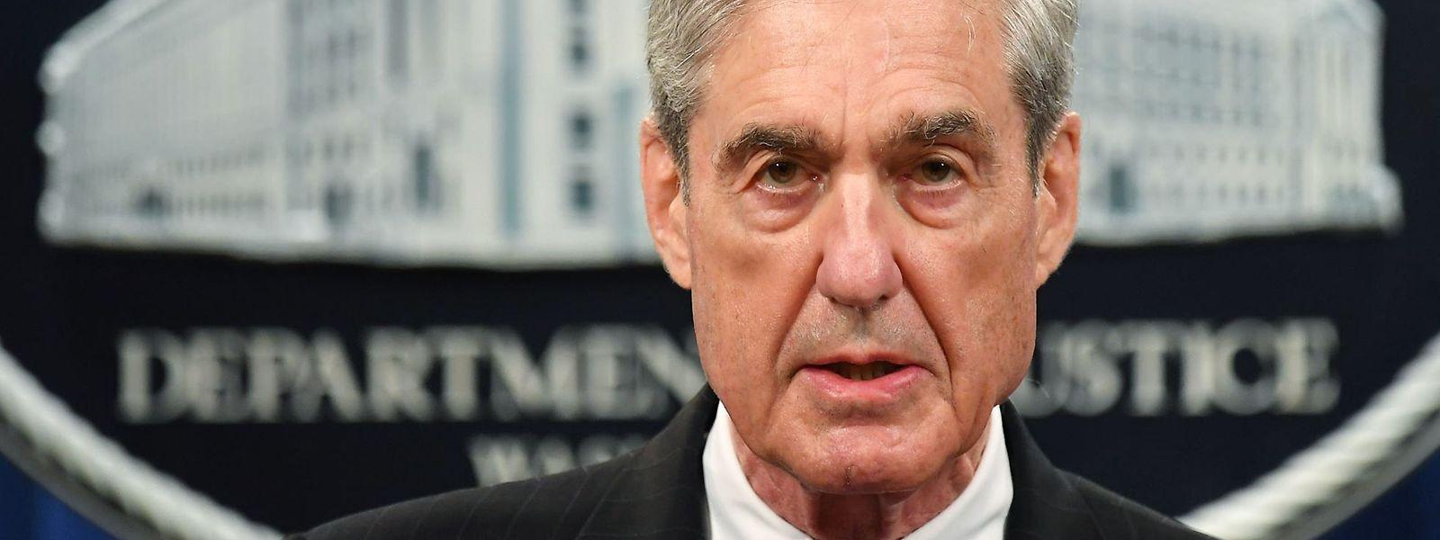 EX-FBI-Chef Robert Mueller bei seiner ersten kurzen Pressekonferenz am 29. Mai, nach Veröffentlichung des Reports.
