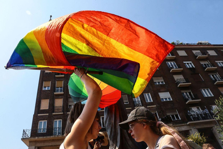 Imagens da Marcha de Orgulho na capital húngara.