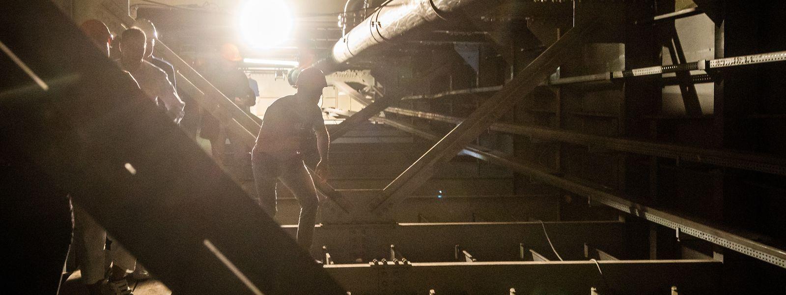 Eine Besichtigung der Rout Bréck gibt Einblick in das Innenleben eines Stahlgiganten.