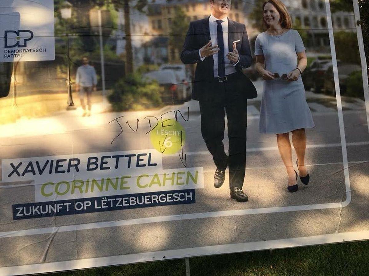 En 2018, le pays avait été scandalisé par ce tag antisémite sur les affiches électorales. A ce jour, aucun coupable n'a été identifié.