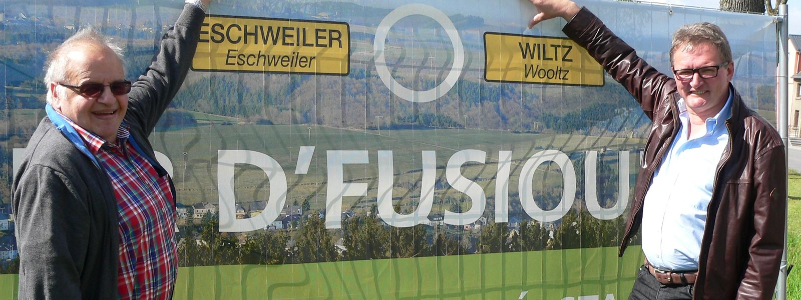"""2014 warben die Bürgermeister aus Wiltz und Eschweiler für """"ihre"""" Fusion."""
