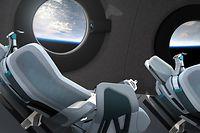 28.07.2020, ---: Kabineninnenraum des «Virgin Galactic Spaceship» SpaceShipTwo, ein Raumflugzeugtyp des Herstellers The Spaceship Company. Virgin Galactic steht kurz davor, eine wichtige Serie von Testflügen ihres Passagierraumschiffs mit Motorantrieb zu starten. Innerhalb eines Jahres sollen erste Flüge ins Weltall für Kunden durchgeführt werden. Foto: Courtesy Virgin Galactic/ZUMA Wire/dpa +++ dpa-Bildfunk +++