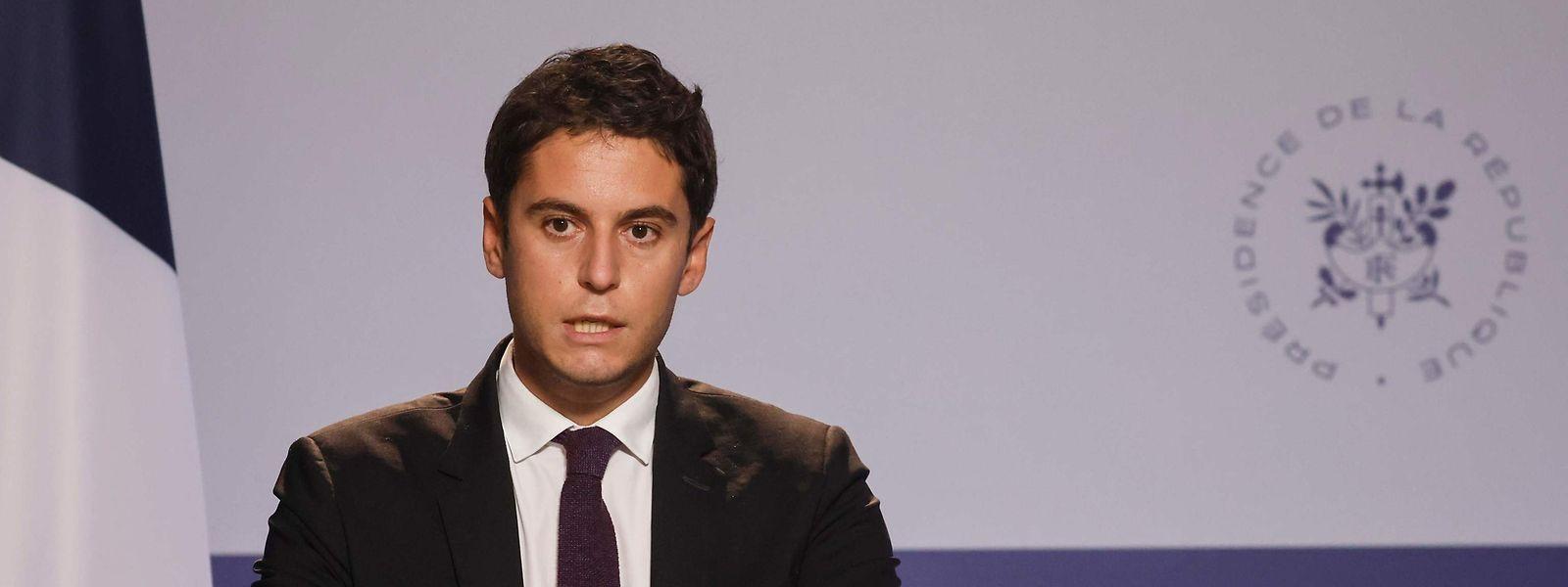 Porta-voz do Governo francês, Gabriel Attal