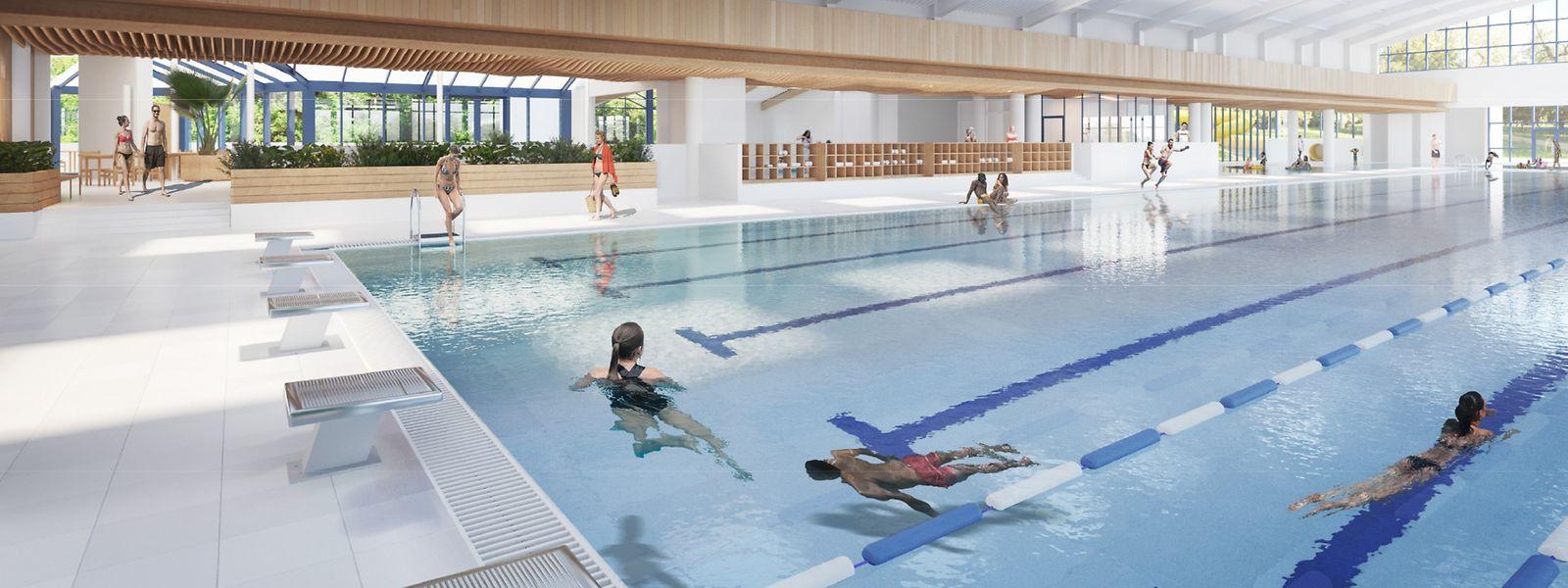 Der Umbau des Piko-Schwimmbades schlägt mit 9 Millionen Euro in der Haushaltsvorlage 2021 zu Buche und ist somit, hinter dem Bau der Musikschule, der zweitwichtigste Investitionsposten im außergewöhnlichen Teil des Budgets.