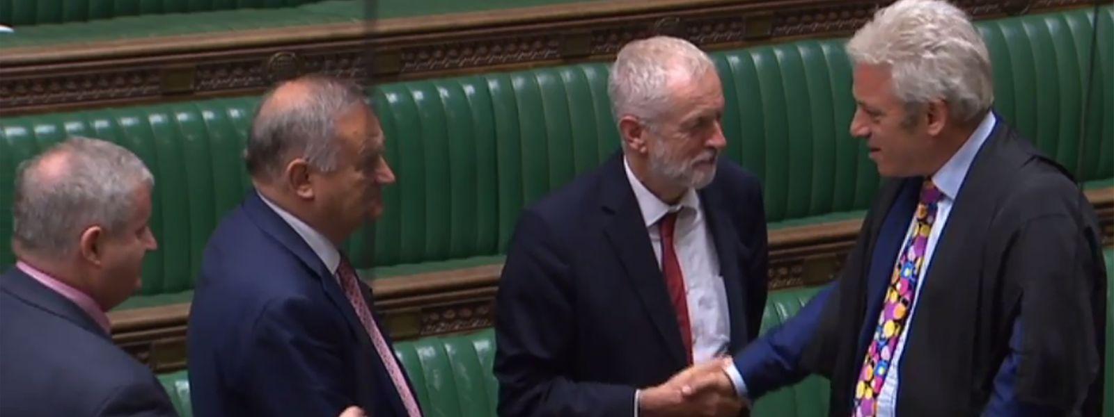 Die britischen Abgeordneten sagen dem Mister Speaker Adieu.