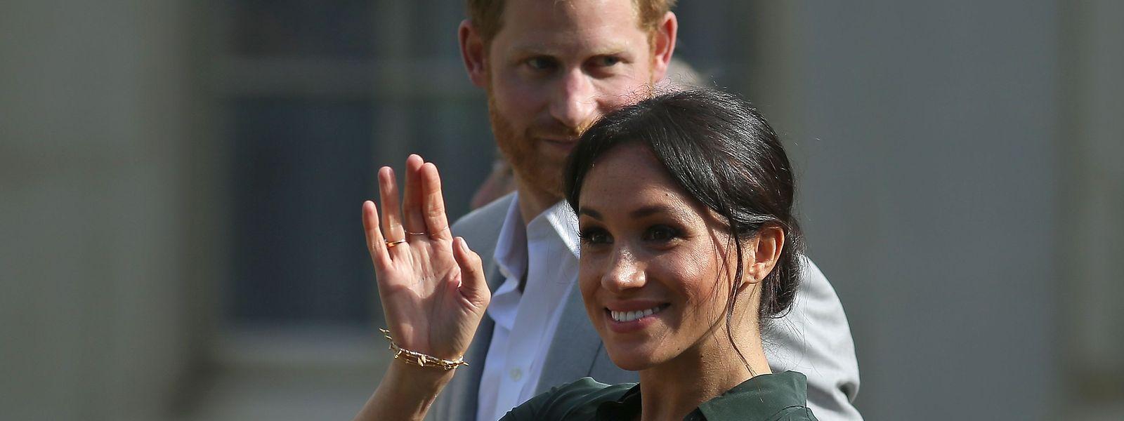 Le prince Harry, duc du Sussex et son épouse la duchesse Meghan.