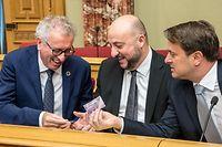 IPO , Chamber , depot Budget 2020 , Pierre Gramegna , Etienne Schneider , Xavier Bettel Foto: Guy Jallay/Luxemburger Wort