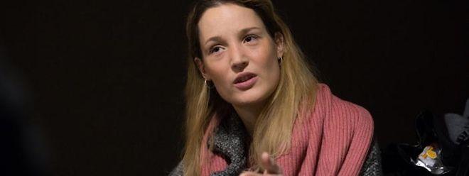 """Vicky Krieps in einem Interview beim Filmdreh von """"Gutland"""". rty"""