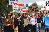 Des milliers de personnes ont pris d'assaut les rues de la capitale pour demander des mesures de sauvegarde du climat