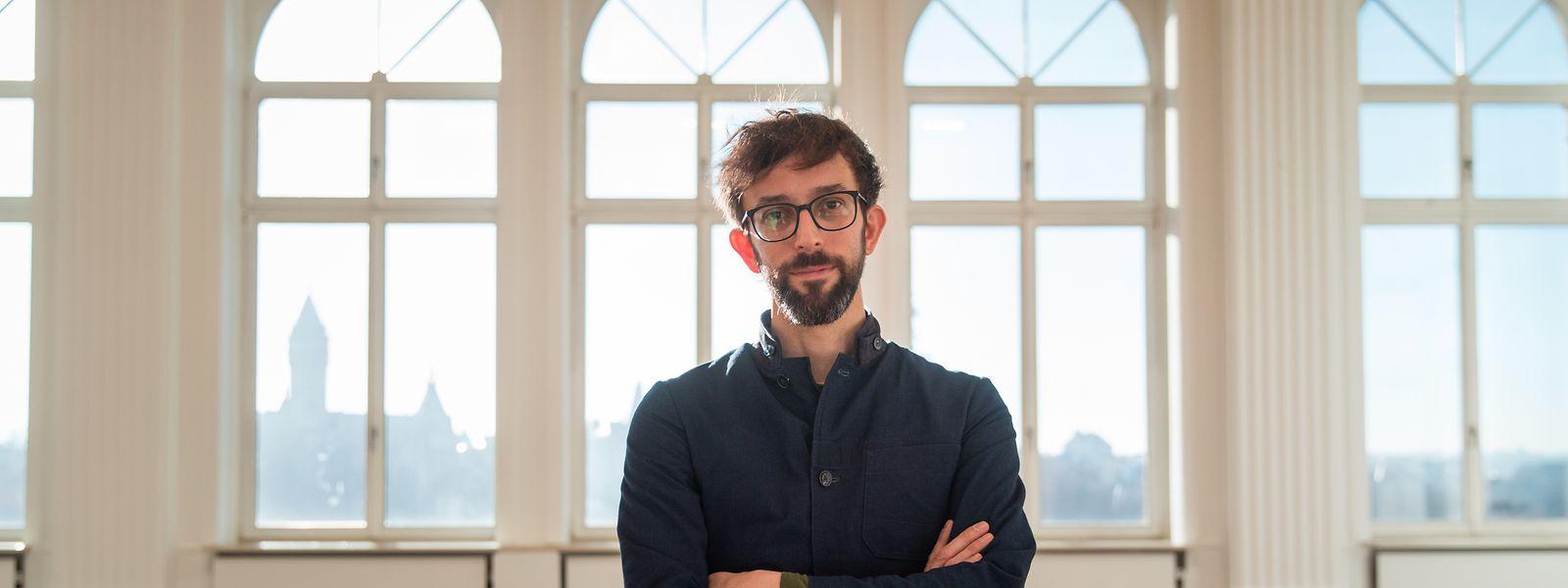 Patrick Muller zeigt im Kunstforum Casino drei Arbeiten, die sich an den Pionier Alvin Lucier anlehnen.
