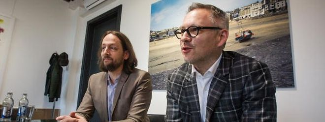 Adal-Präsident Benji Kontz (links) und Fégarlux-Präsident Philippe Mersch geben sich vor dem 54. Autofestival relativ entspannt.