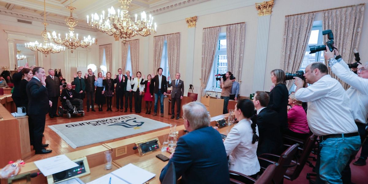 Premier conseil communal avec les nouveaux élus ce lundi à Luxembourg