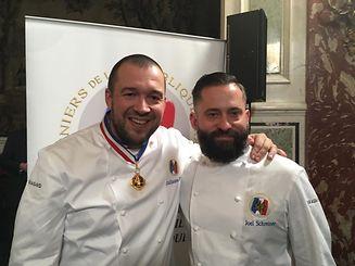 Guillaume Gomez (à g.), chef de cuisine du palais de l'Elysée et Joël Schreiner.