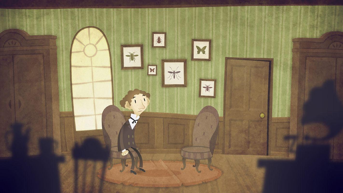 """Protagonist K begibt sich in die skurrile Welt von """"The Franz Kafka Videogame""""."""