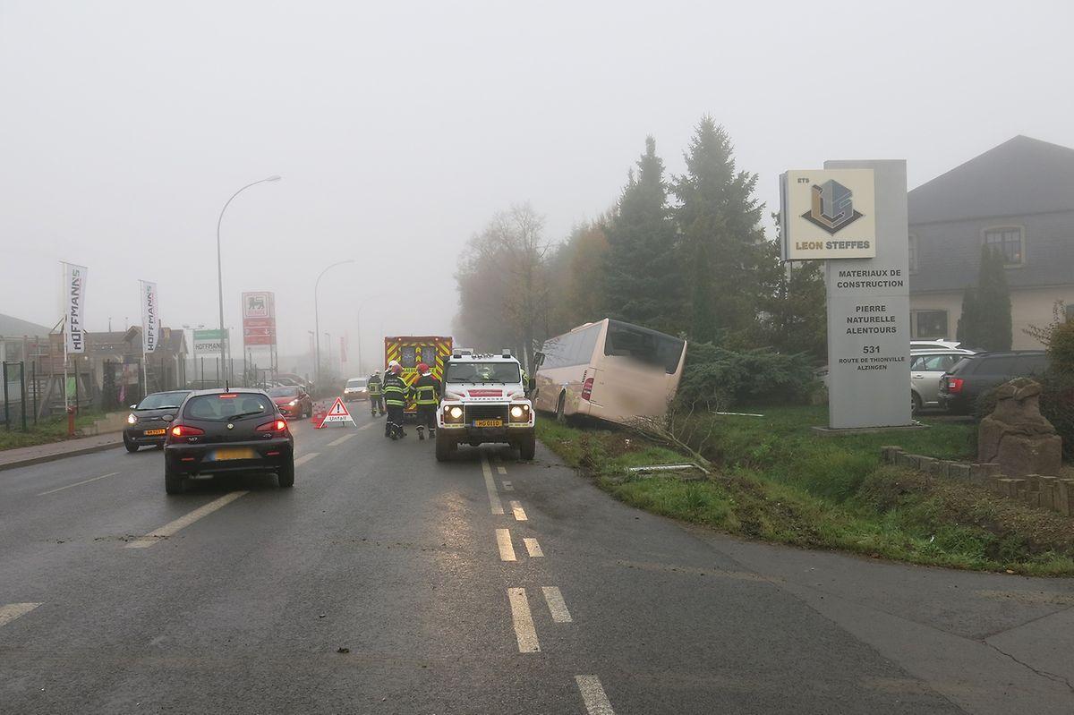 In Alzingen war es am Donnerstagmorgen zu einem Unfall gekommen.