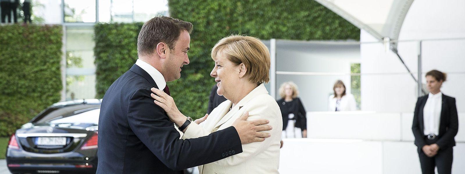 Le Premier ministre, Xavier Bettel, a retrouvé Angela Merkel, la chancelière allemande à Berlin.