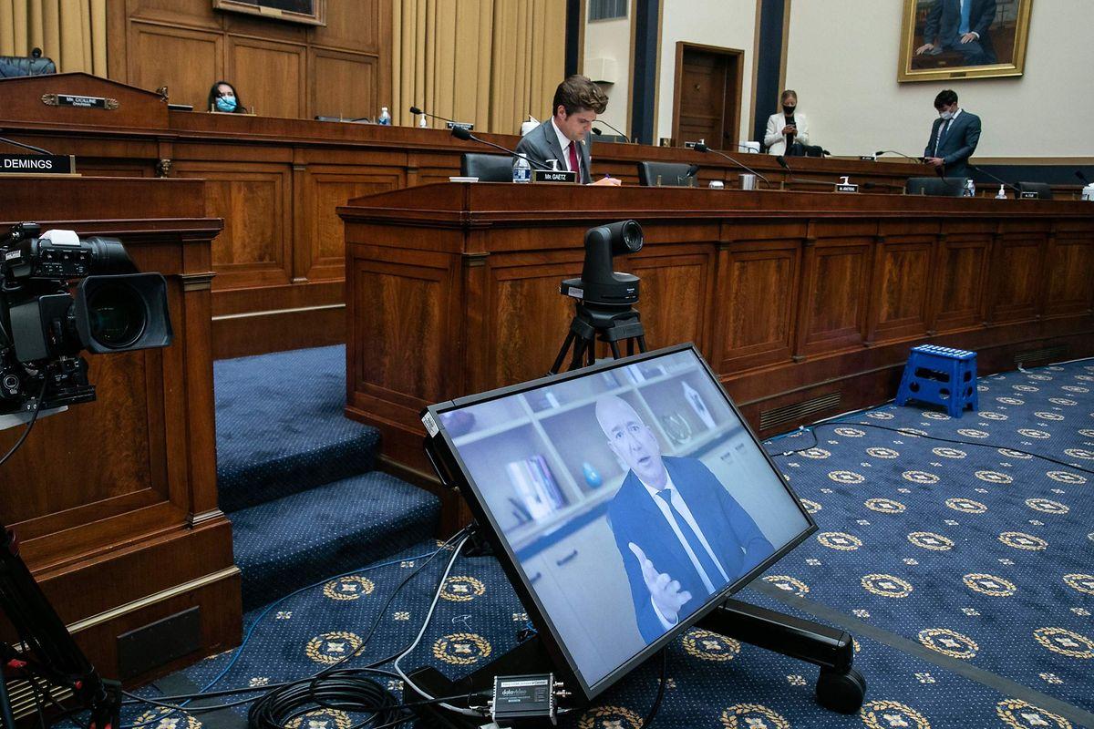 C'est par vidéoconférence que les quatre patrons des GAFA ont répondu aux multiples questions des élus de la Chambre des représentants.