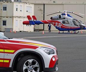 Samu an LAR-Helikopter