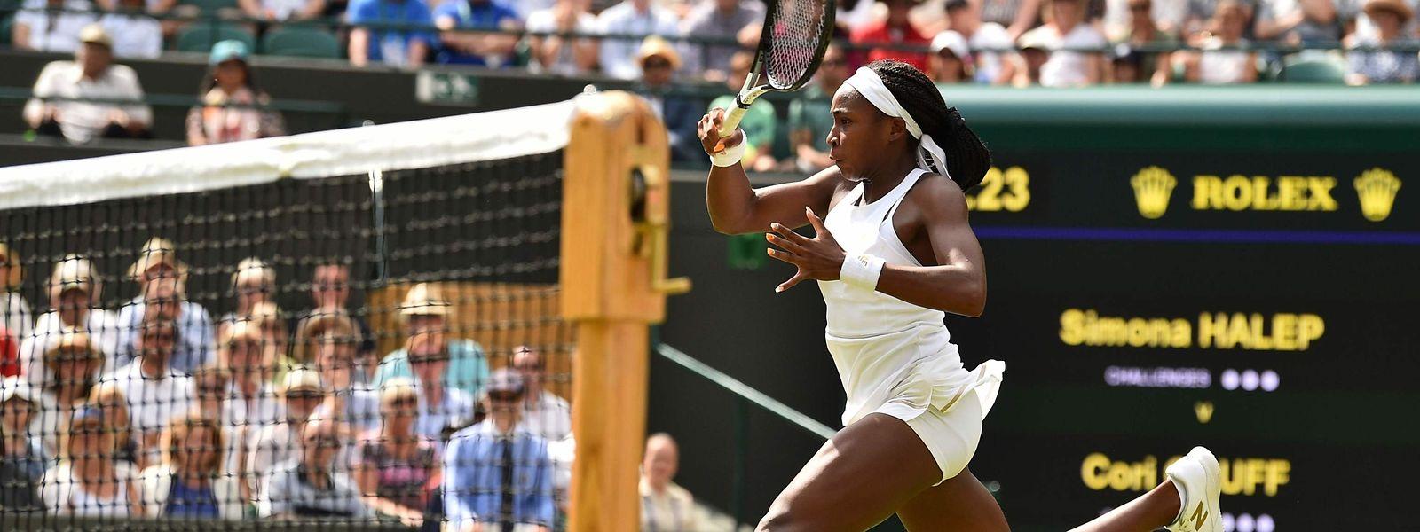 Cori Gauff spielte in Wimbledon ihr erstes Grand-Slam-Turnier.