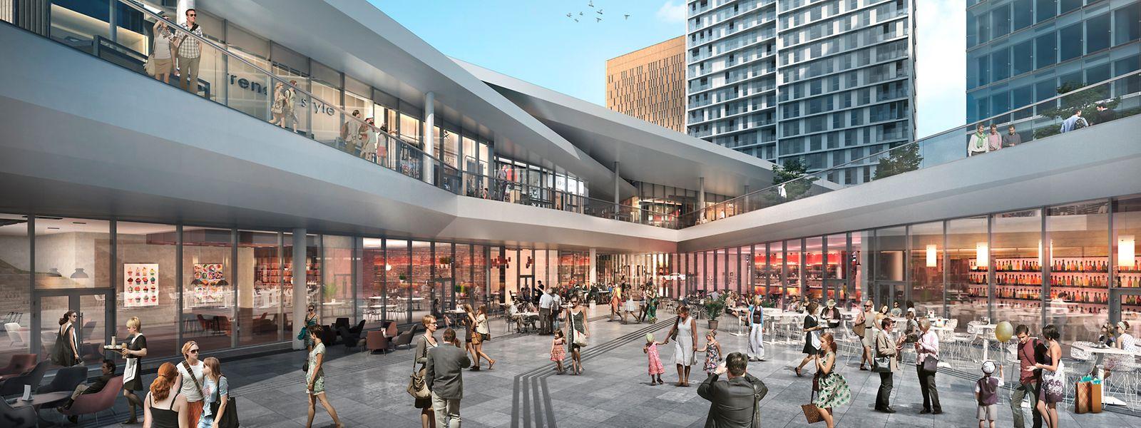 Le centre qui ouvre le 12 décembre comptera 22 boutiques, bars et restaurants.