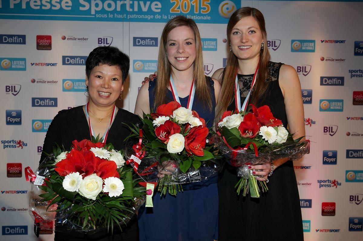 Ni Xia Lian,Tessy Gonderinger et Danielle Konsbrück, le tennnis de table féminin reste au sommet des sports collectifs.