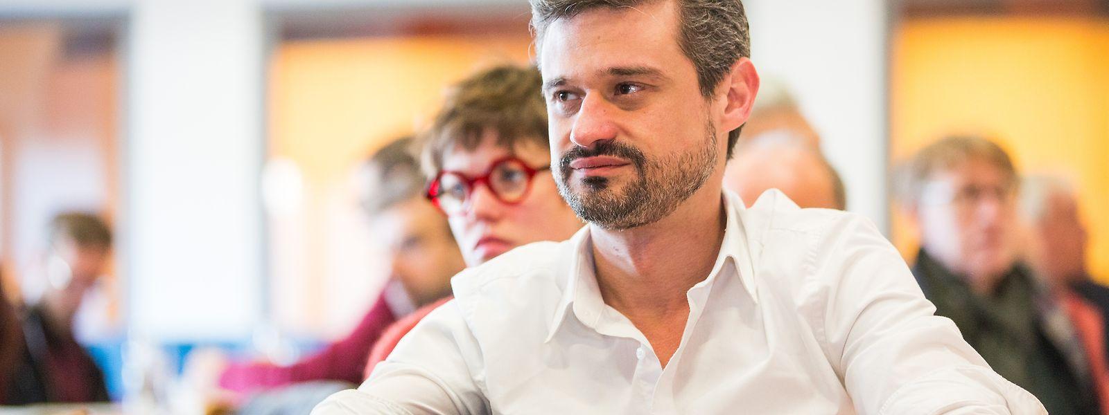 Der Abgeordnete David Wagner ist einer von vier Spitzenkandidaten, die im Zentrum für Déi Lénk kandidieren.