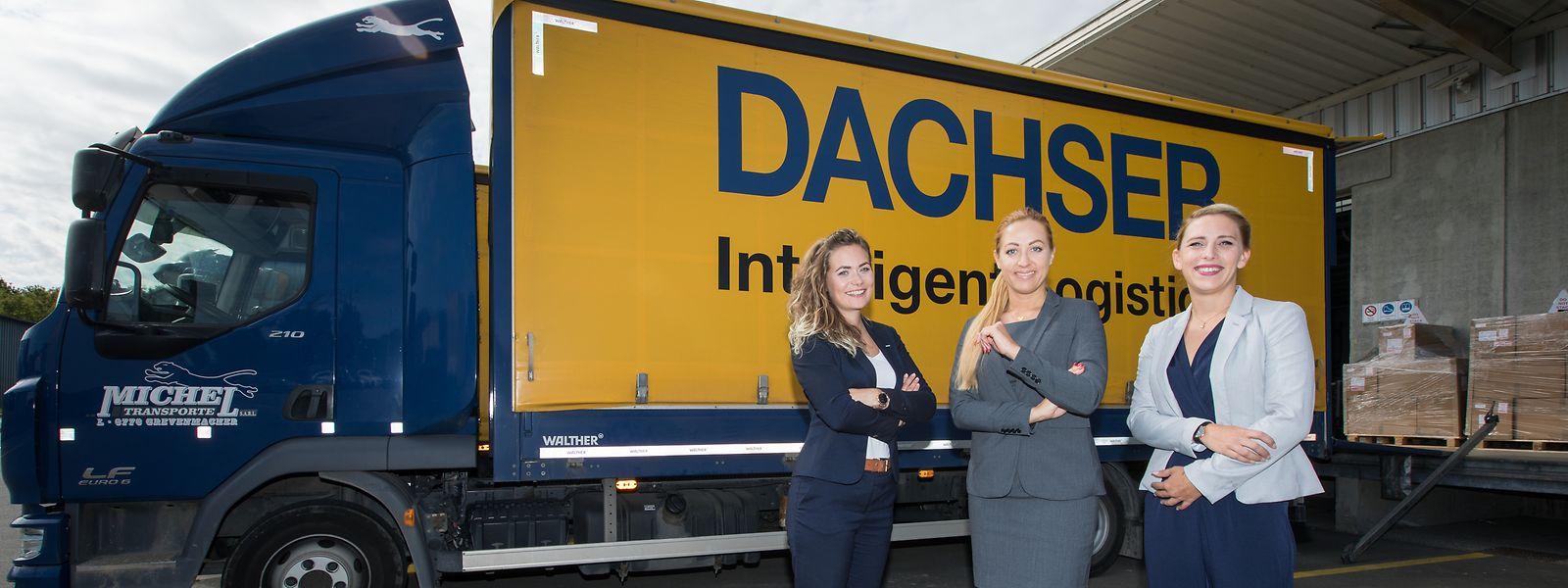 Nicole Engelbert, Janine Weber und Laura Waigel (v.l.): Führungspositionen für Frauen sind im Transportwesen noch eine Seltenheit.