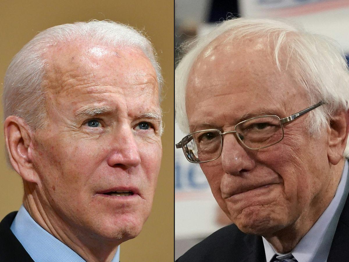 Joe Biden (l.) kann jetzt auf Hilfe von Bernie Sanders und dessen Team zählen.