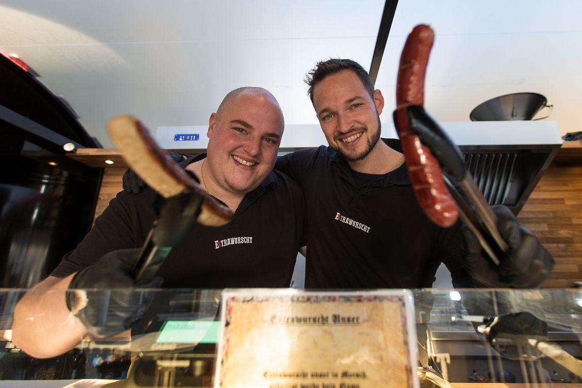 Sebastian Licht und Matthias Paul wollen den Kult um die Curry-Wurst in Luxemburg etablieren. In ihrer Heimat Deutschland werden jährlich 800 Millionen Currywürste verzehrt.