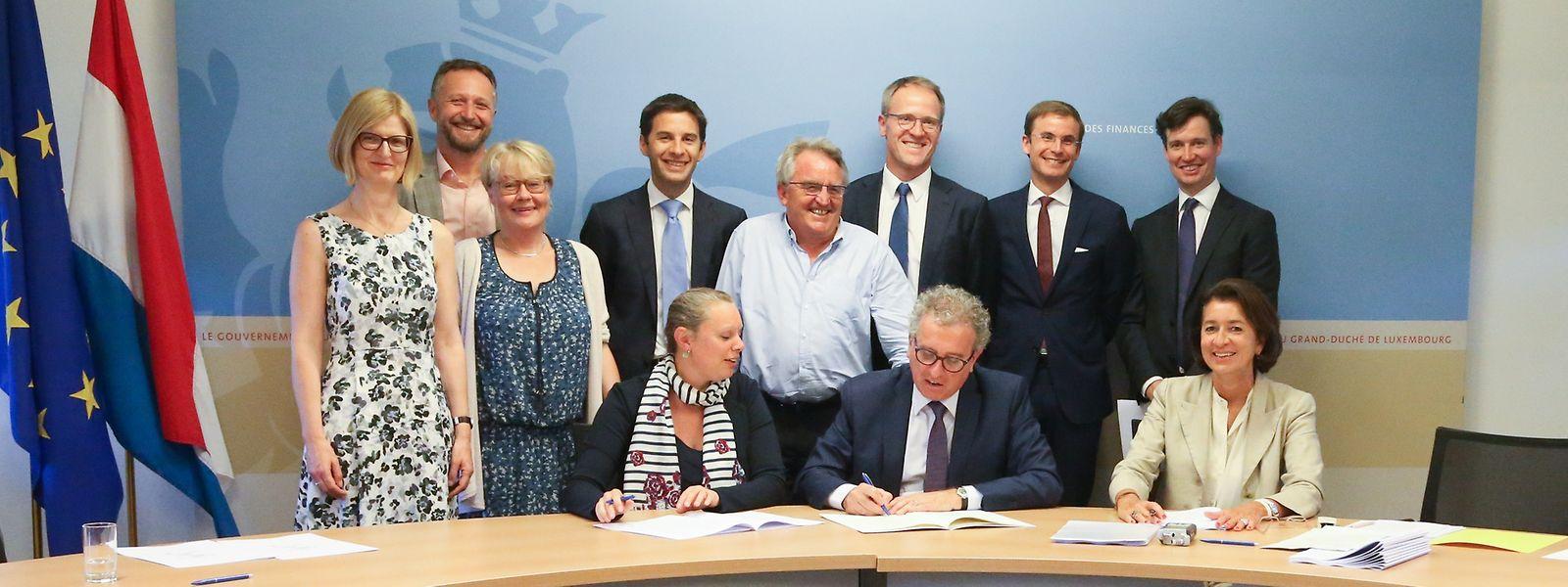 Im Finanzministerium wurde am Montagnachmittag das Partnerschaftsabkommen unterzeichnet.