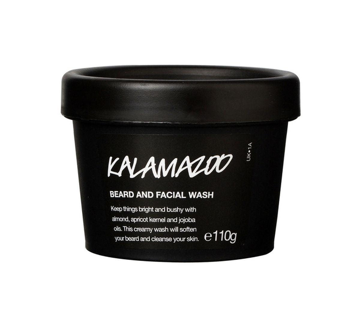 """Reinigungscreme """"Kalamazoo"""" von Lush für Bart und Gesicht, 100 g um 11 Euro."""