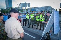 Übung für Militärparade in Kirchberg / 2019 / Photo: Blum Laurent
