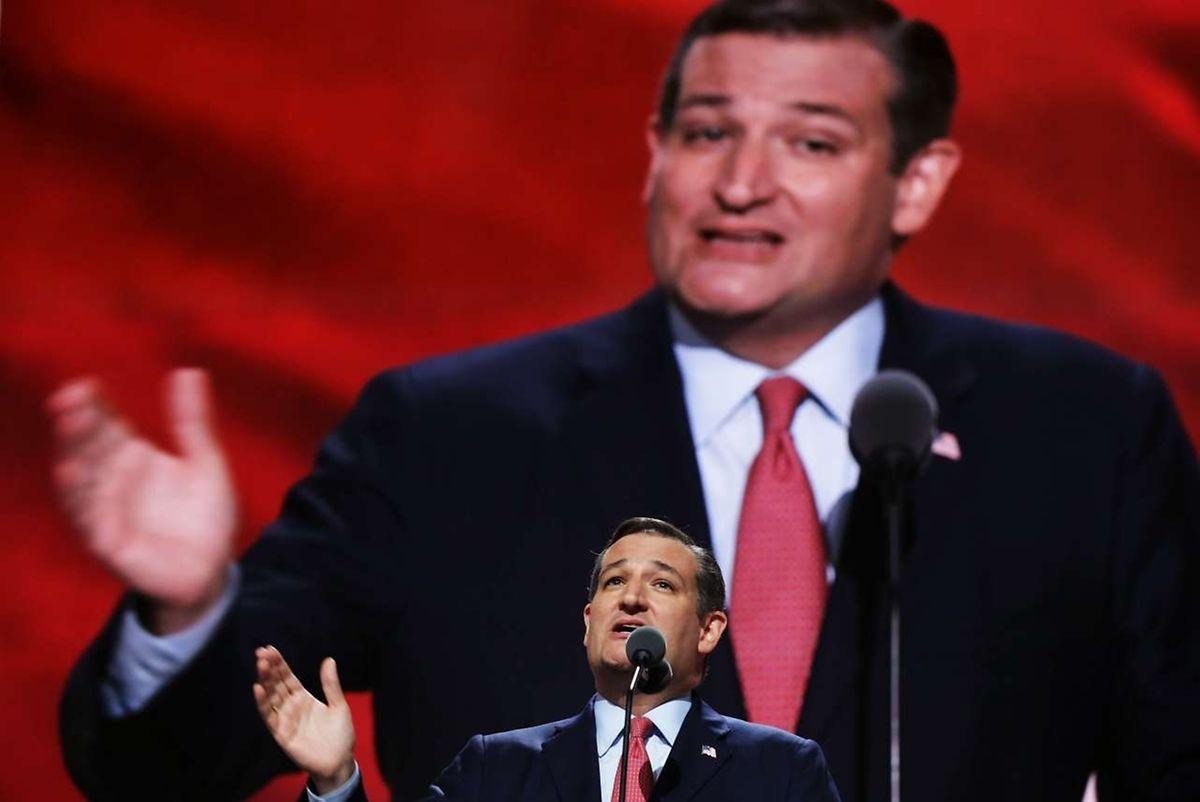 Ted Cruz lors de la Convention républicaine, le 20 juillet 2016