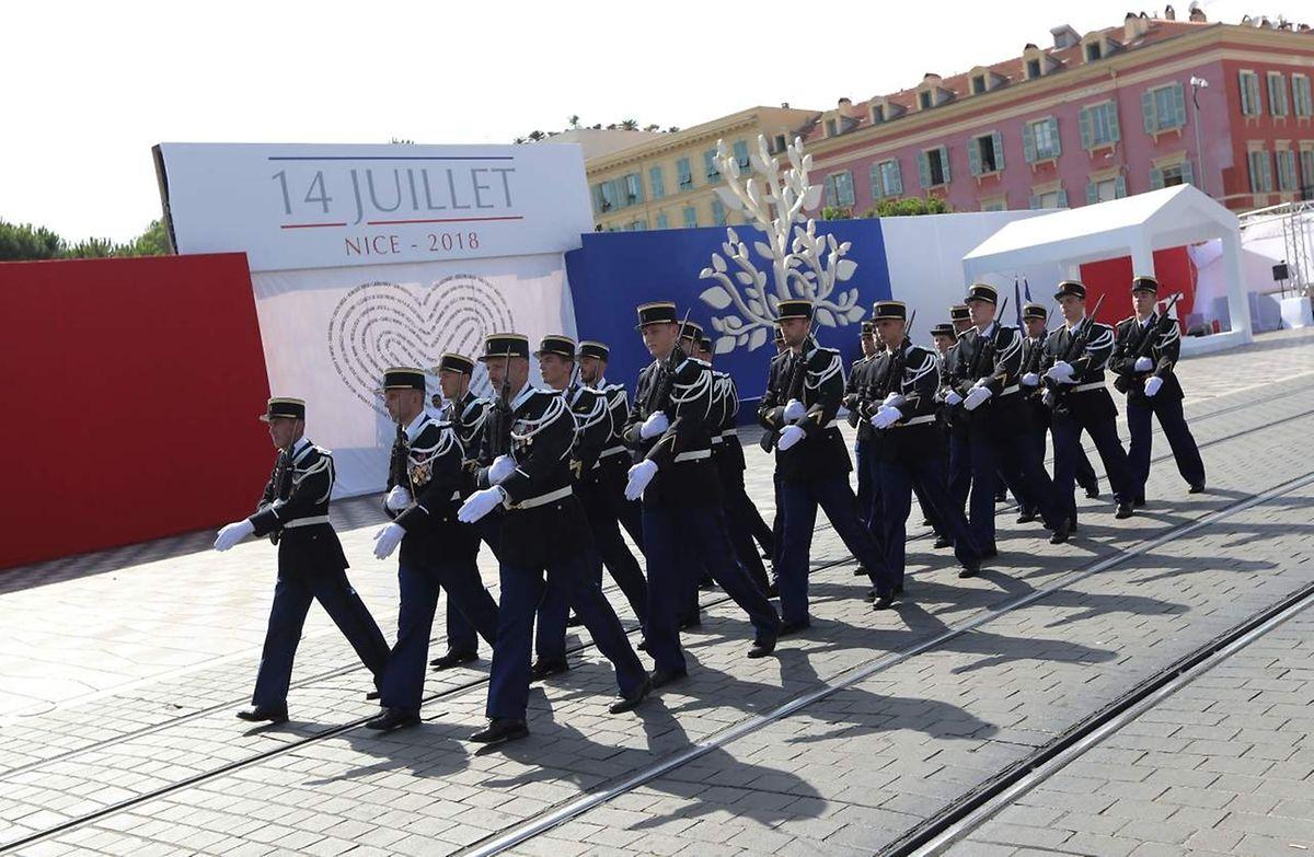 Auch in Nizza wurde eine Militärparade abgehalten.