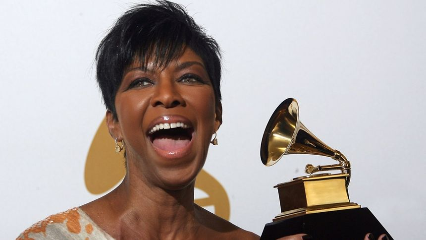"""2009 file photo of singer Natalie Cole with the Grammy award for the Best Traditional Pop Vocal Album for """"Still Unforgettable"""""""