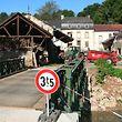 """Die """"Bakesmillen"""" ist seit kurzem wieder über eine Bailey-Brücke erreichbar."""