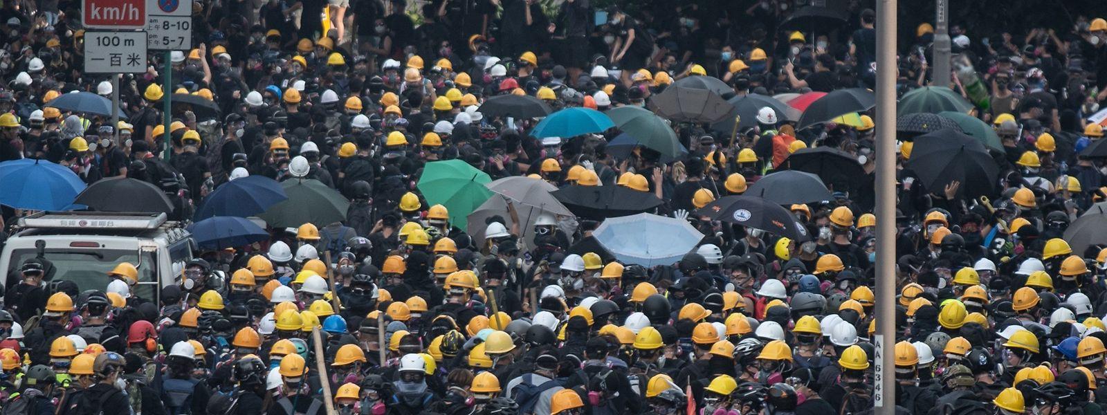 Die Massenproteste in Hongkong dauern bereits seit elf Wochen an.