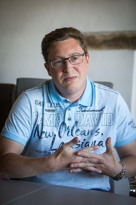 Frank Conrad ist seit knapp sechs Monaten Bürgermeister der Fusionsgemeinde Helperknapp.