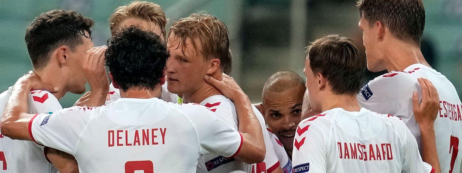 Die dänischen Spieler treten am Mittwoch im Halbfinale in London an.