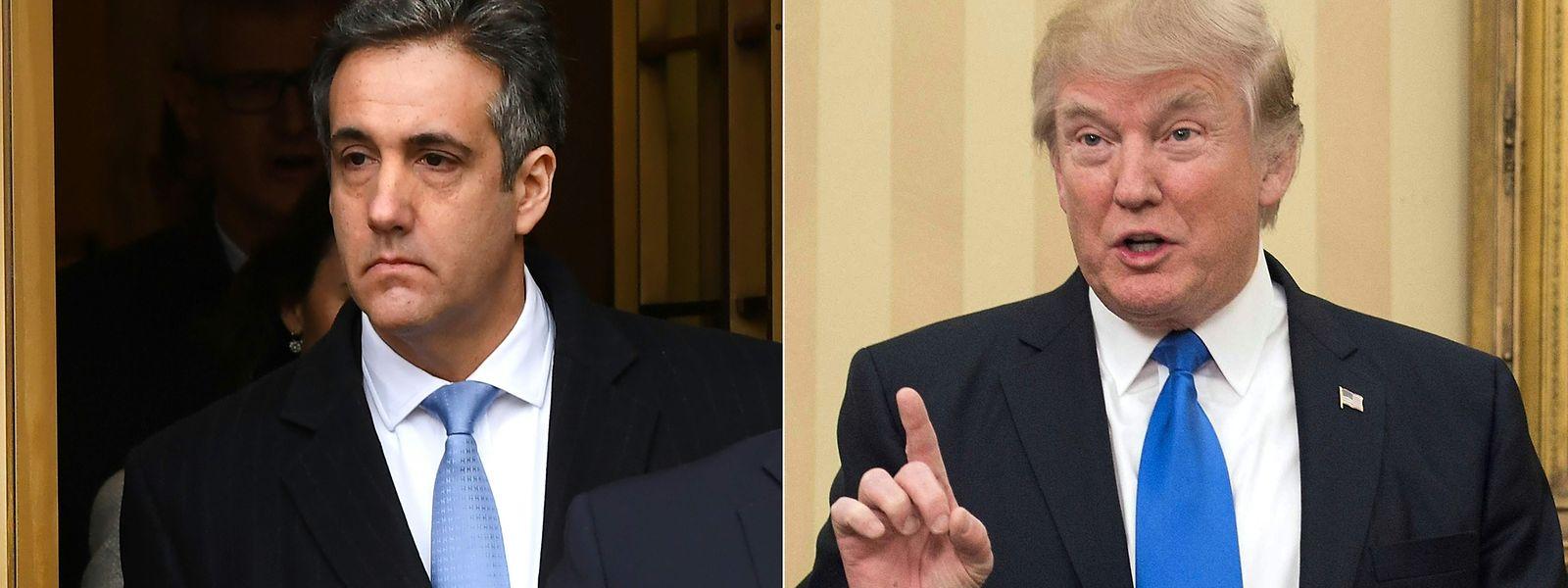 Donald Trump und sein früherer Anwalt Michael Cohen (l.).