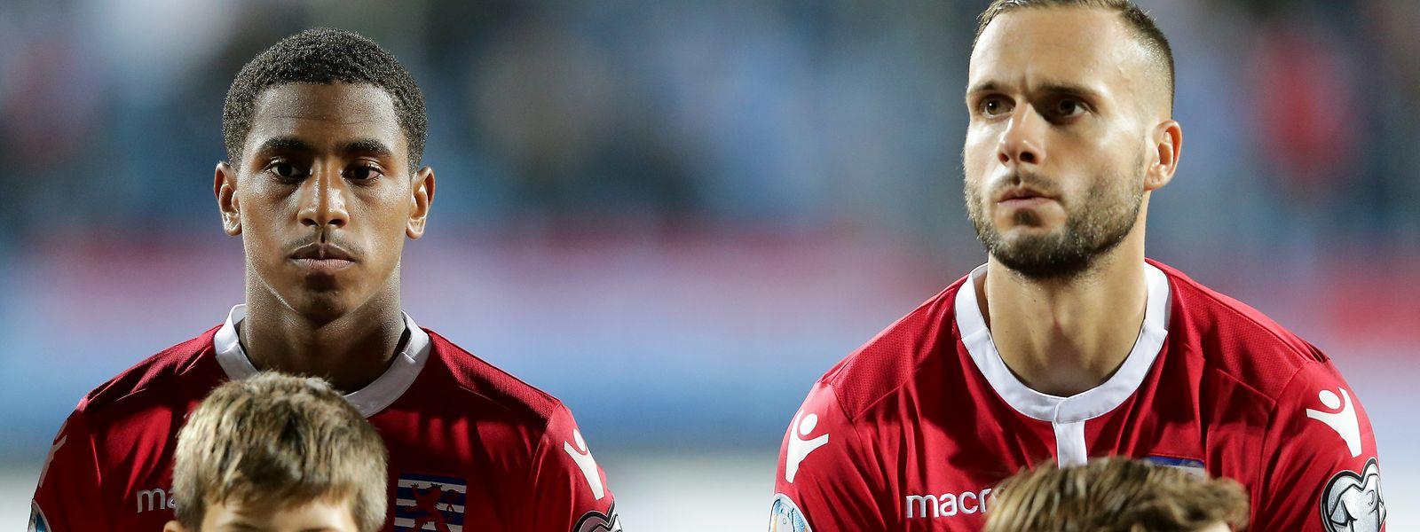 Leandro Barreiro und Maxime Chanot (r.) sind zwei der Stützen der Fußball-Nationalmannschaft.