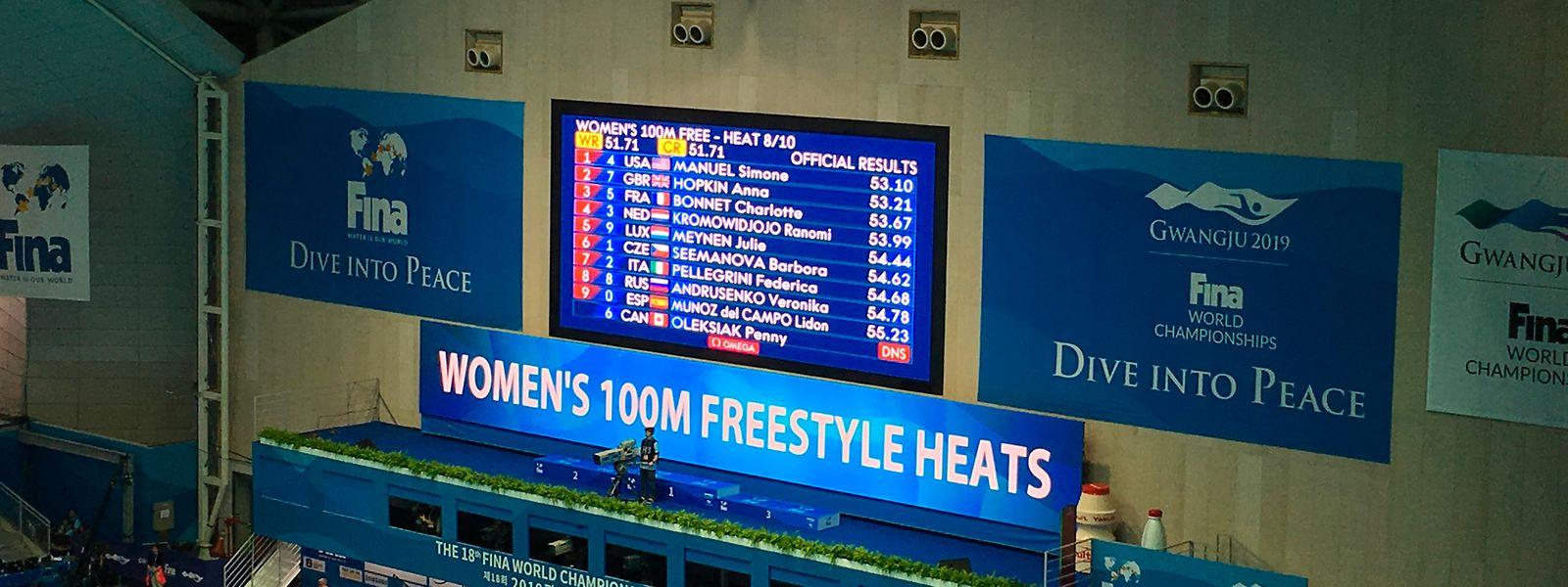 Julie Meynen fehlen sechs Hundertstel, um sich für Olympia zu qualifizieren.