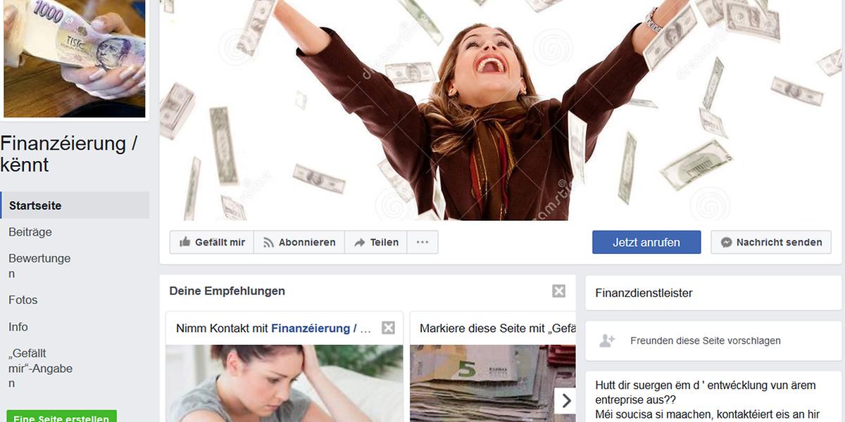 Esta é a foto da página fraudulenta no Facebook