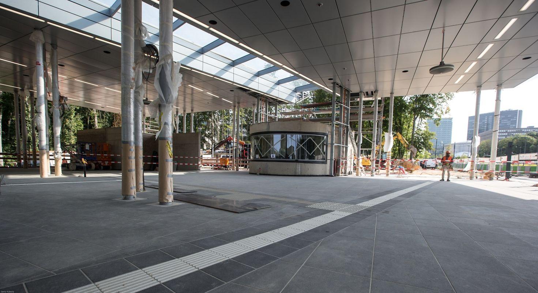 """La gare """"haute"""" du funiculaire au Kirchberg, un projet du bureau d'architectes Paczowski et Fritsch"""