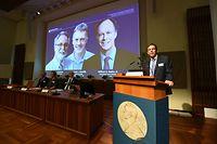 Thomas Perlmann, der Sprecher des Nobel-Kommittees bei der Verkündung.