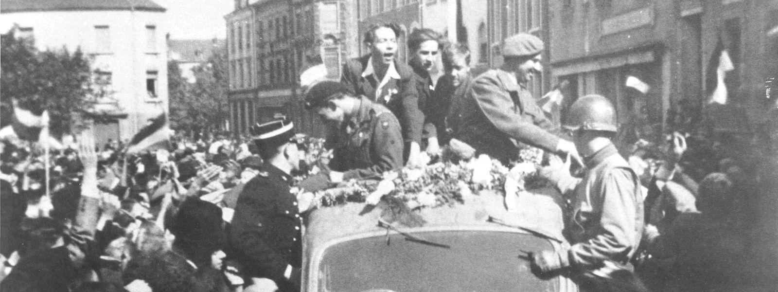 Die Bevölkerung bereitete Prinz Félix und Prinz Jean einen begeisterten Empfang vor fast 75 Jahren, am 12. September 1944.