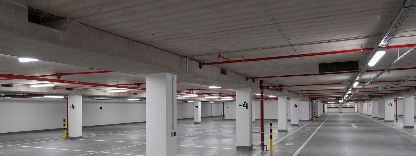 Un aperçu de ce nouveau parking tout neuf.